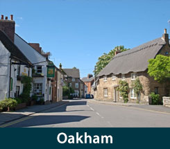 The area of Oakham Leicestershire