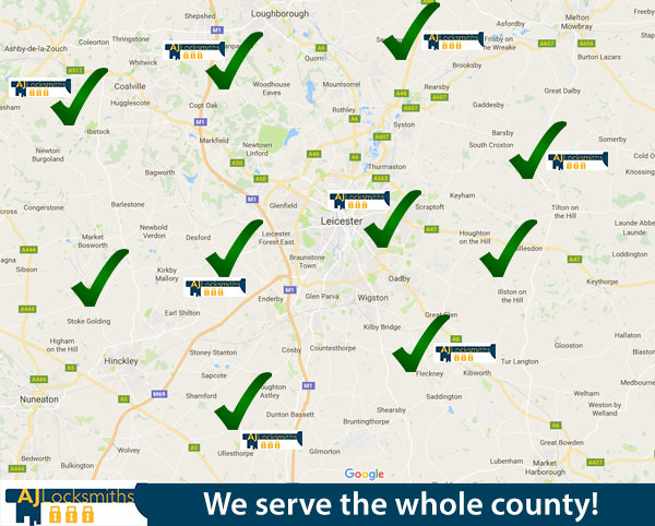 We serve the entire county leicester locksmiths