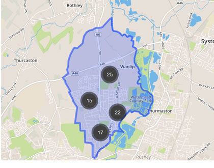 Area covered by Locksmith Birstall