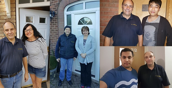 A collage of our happy customers from this year emergency locksmiths