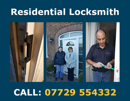 Part of our residential locksmith service